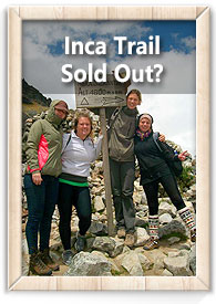 Inca Trail Sold out?