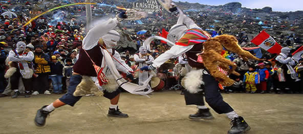 Traditional fiestas in Peru