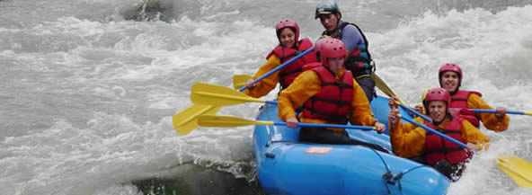 Rafting in the rivers apurimac and urubamba
