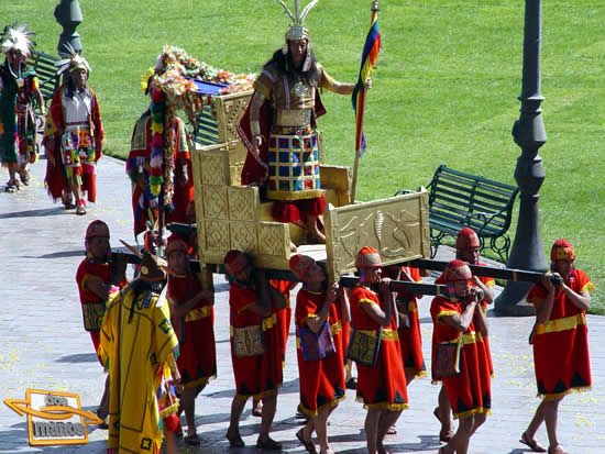Procession to the sacred square of saqsayhuaman