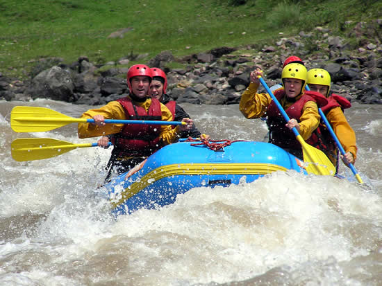 Rafting in the river apurimac