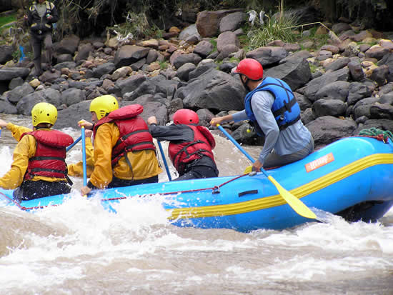 Rafting in the river urubamba