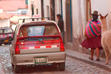 Taxis and transportation in Peru