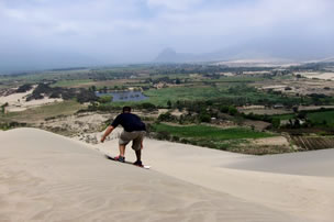 Sandboarding in Trujillo