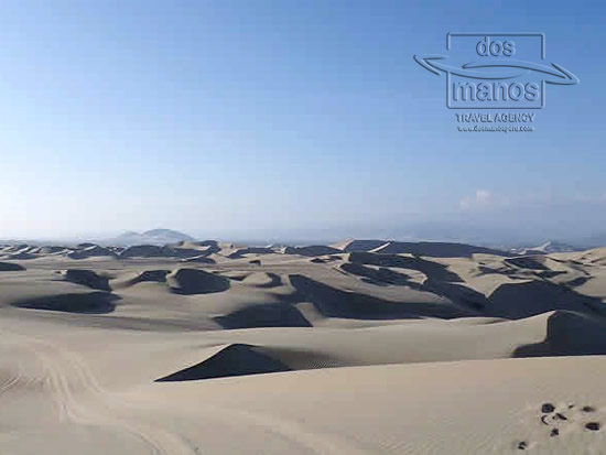 Sandboarding at the Huacachina Oasis