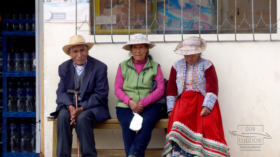 People of Peru at the Colca Canyon