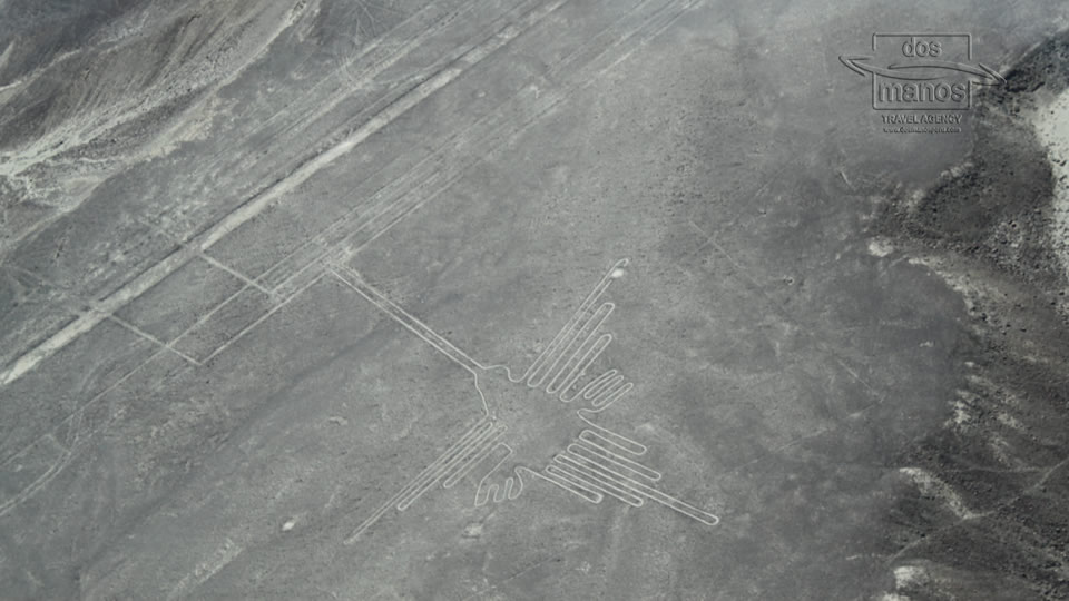 Flying over the Nazca lines in Peru