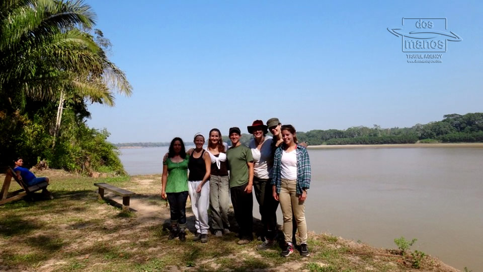 Group of Travelers in the Tambopata Jungle