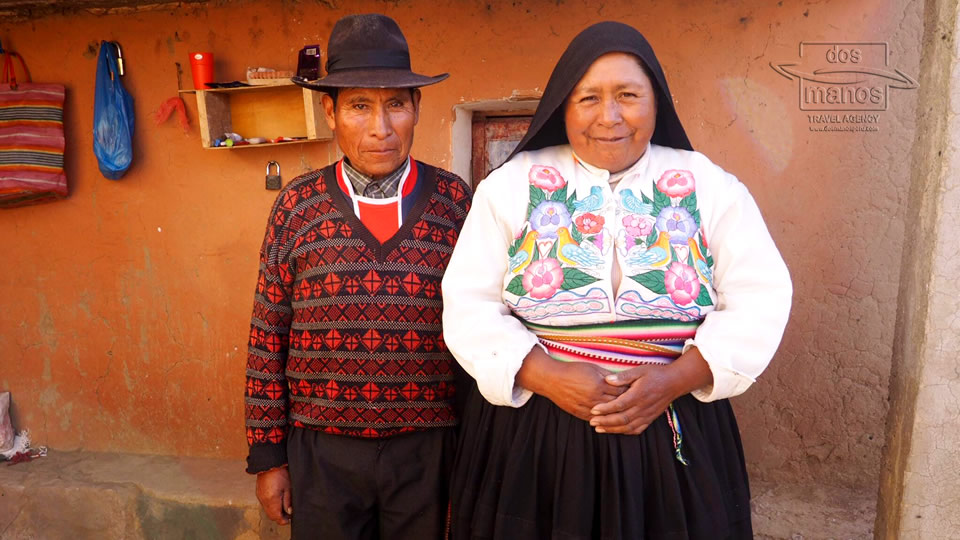 Host Family at the Islands of Titicaca