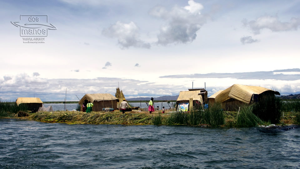 Famous Floating Islands at Titicaca Lake