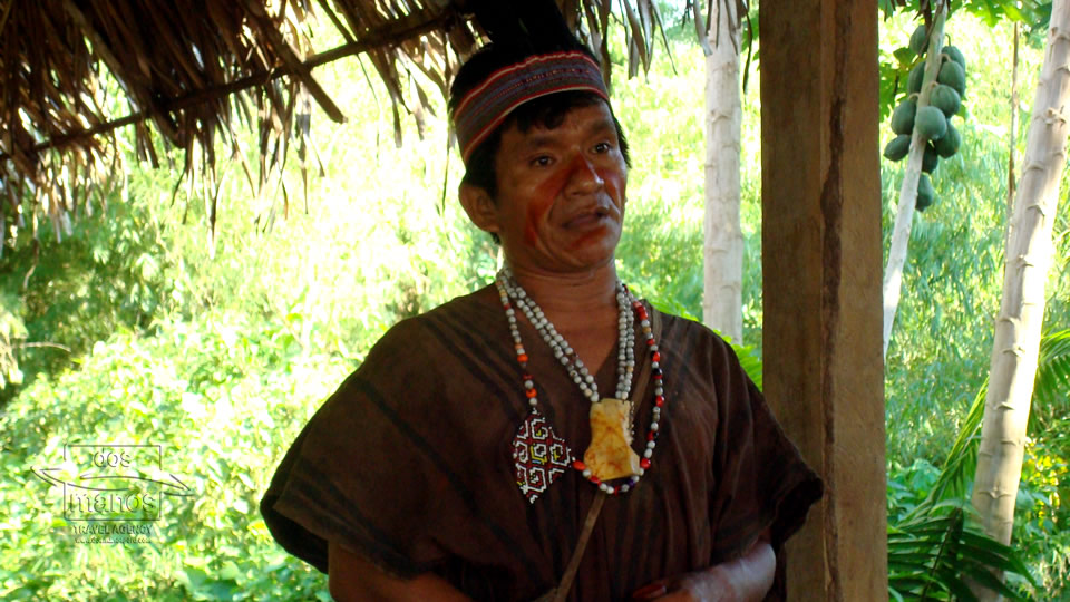 Local community in the rainforest of Peru