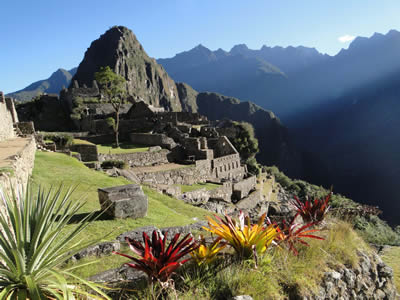 The Lost City of the Incas, the ruins of Machupicchu considered as one of the most extraordinary examples of natural architecture of the world.