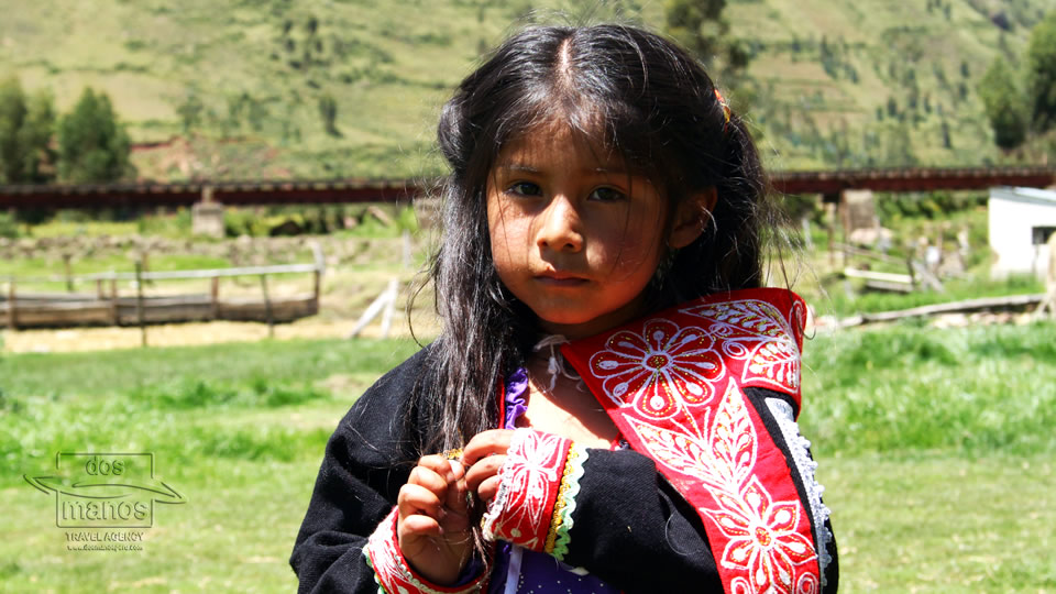Young girl in the Andes