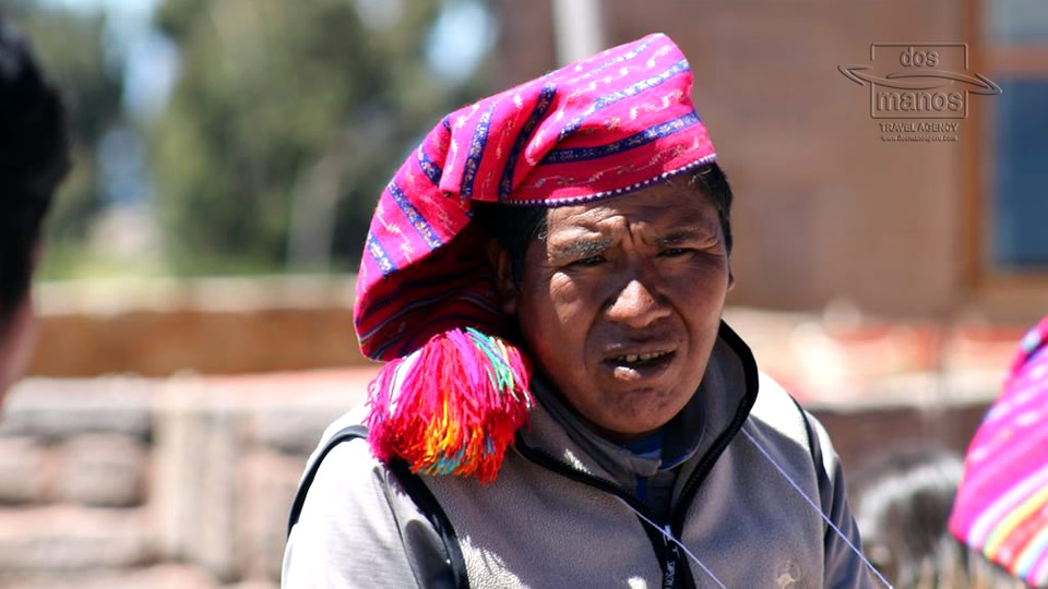 Inhabitant of the Floating Islands Titicaca