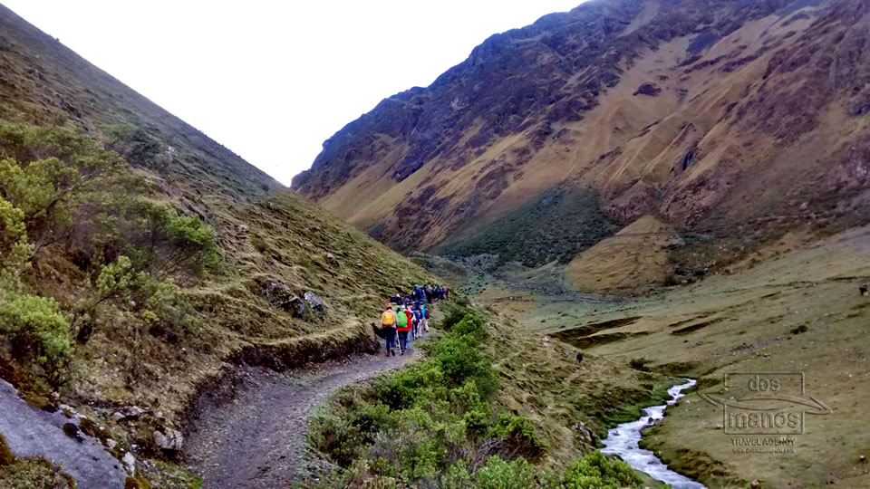 De start van de Salkantay Trek