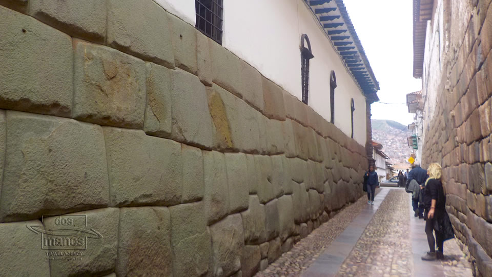 Inca muur in Cusco, Peru