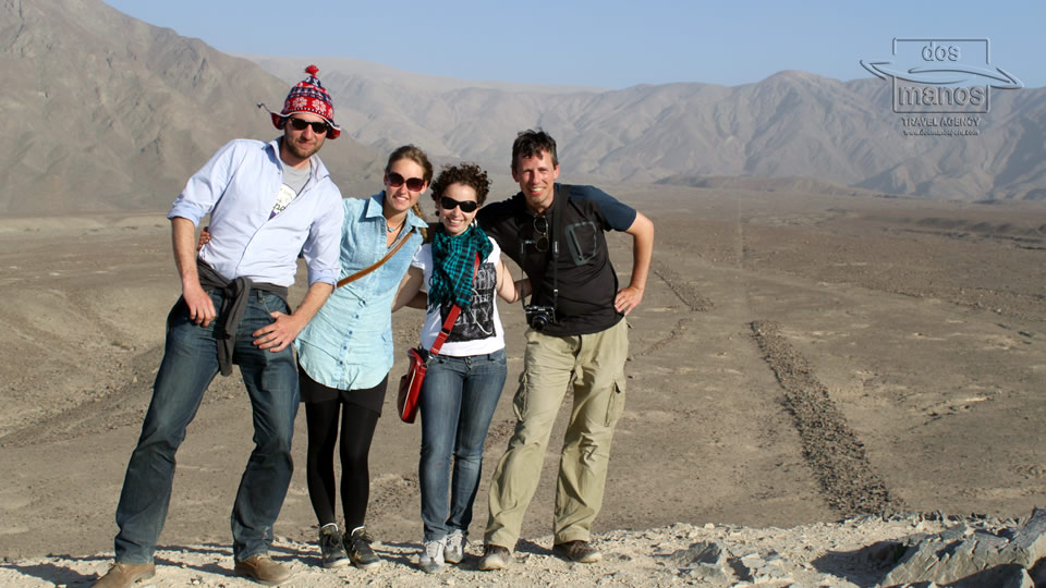 Travelers in Nazca Peru