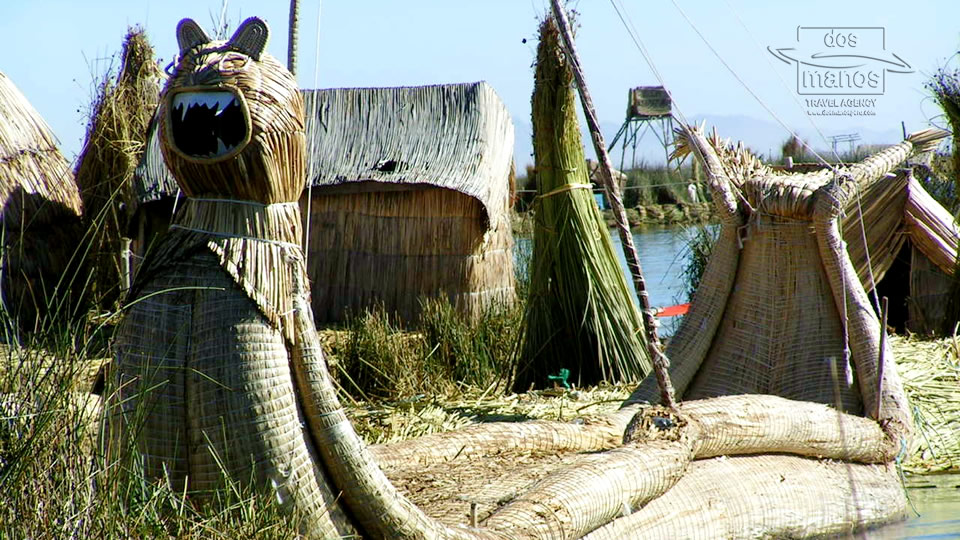 Boats of the Uros Islands
