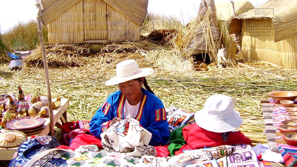 Vendor of Souvenirs on the Uros Floating Islands
