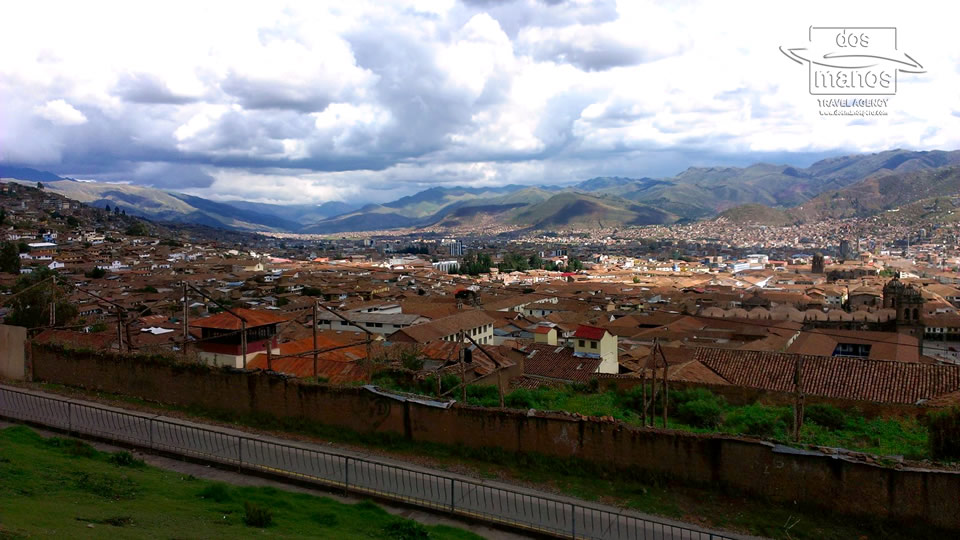 View over Cusco from San Cristobal